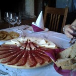 Cheese and prsut at Krolo Winery