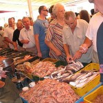 Fish market in Split, Croatia