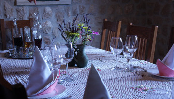 Dining table in Croatian home