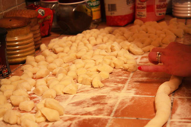 Making gnocchi at cooking class in Split, Croatia