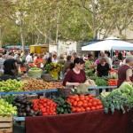 Farmer's market in Split Croatia